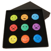 Nine Hole Emotions - emoji ball markers - set of 9 - Golf Gifts UK - Golf wrapped up