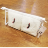 Embroidered flannels  in Cosmetic Bag - Golf Gifts UK - Golf wrapped up