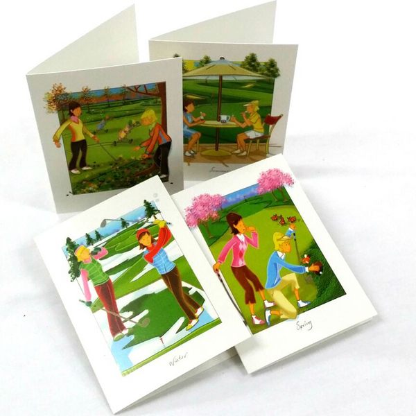 Golfers Four Seasons Greeting Cards - Golf Gifts UK - Golf wrapped up