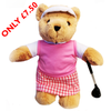 Golfing Girl Teddy Bear - Golf Gifts UK - Golf wrapped up