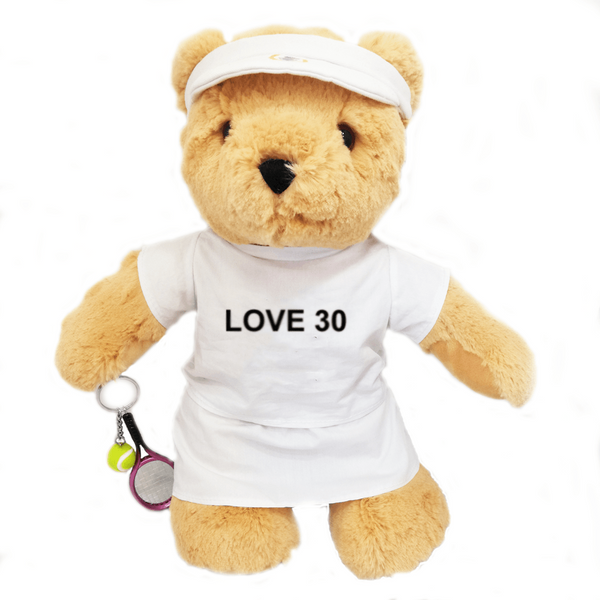 Love 30 Birthday Tennis Bear - Girl - Golf Gifts UK - Golf wrapped up