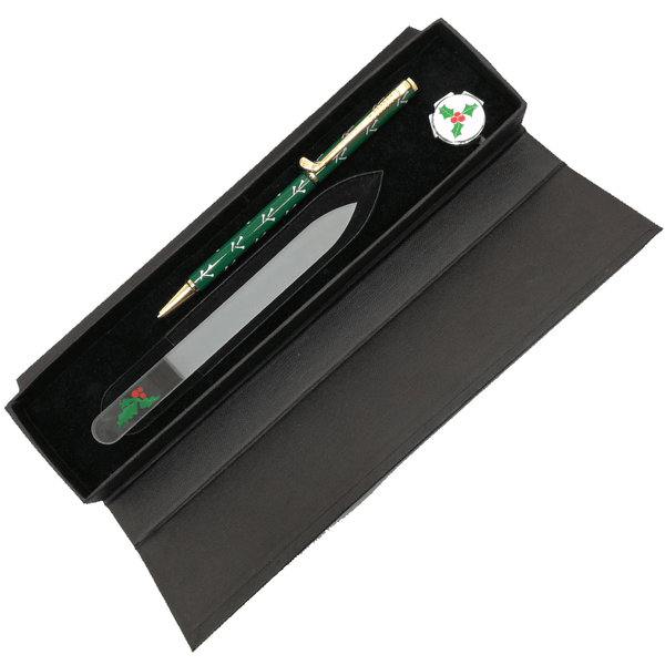 Holly Nail File, Pen and Ball Marker Gift Set - Golf Gifts UK - Golf wrapped up
