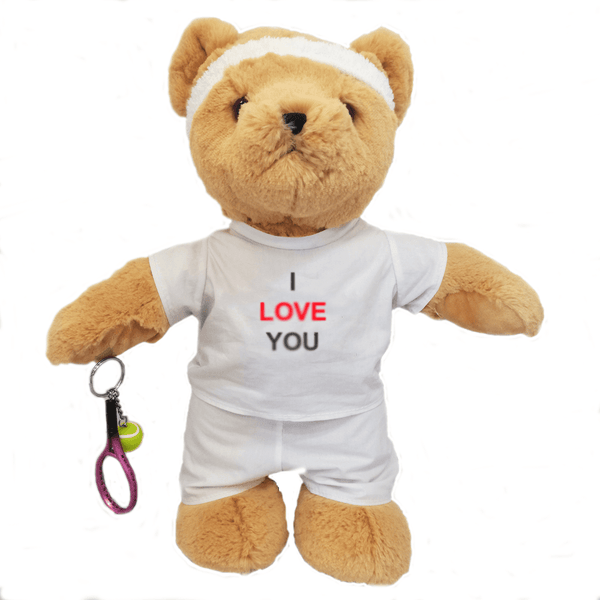 I Love You Tennis Teddy Bear - Golf Gifts UK - Golf wrapped up