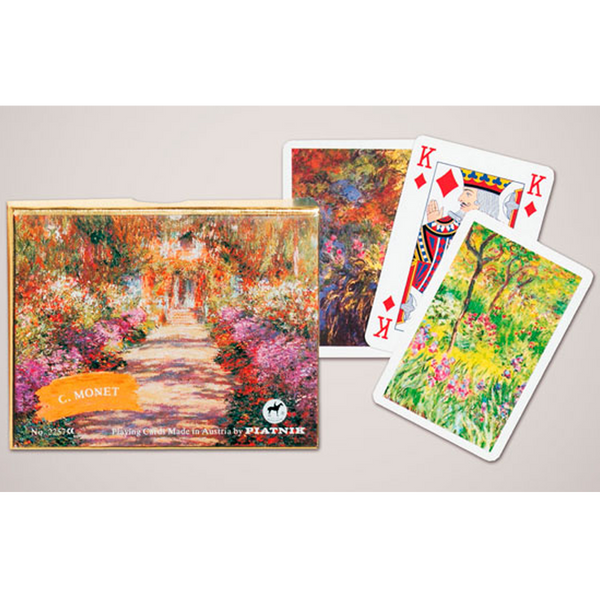 Piatnik Playing Cards - Monet Gallery - Giverny, double deck - Golf Gifts UK - Golf wrapped up
