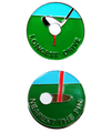 Nearest the Pin and Longest Drive Ball Markers in Presentation Sleeve - Golf Gifts UK - Golf wrapped up
