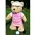Personalised Golfing Teddy Bear (girl)