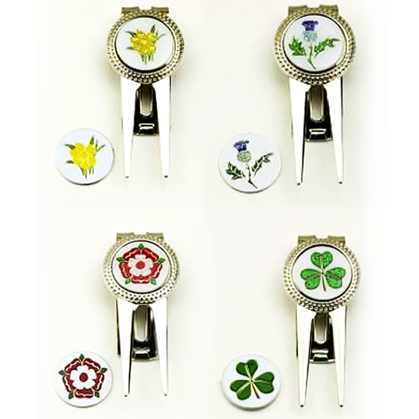 Pitch Repairer and Ball Marker - national emblems - Golf Gifts UK - Golf wrapped up