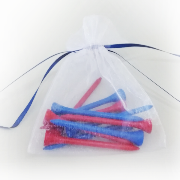 Red and Blue Tees Bag - Golf Gifts UK - Golf wrapped up