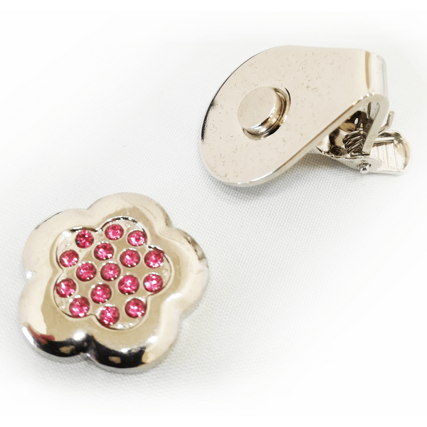 Sparkly Rose Ball Marker and Visor Clip - Golf Gifts UK - Golf wrapped up