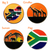South Africa Ball Markers and Visor Clip set