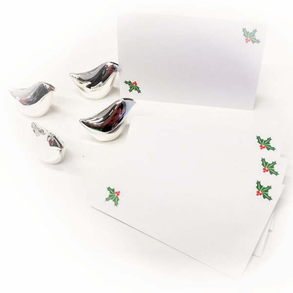 Silver Bird Place Card Holders - Golf Gifts UK - Golf wrapped up