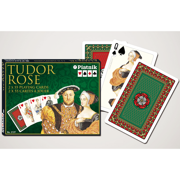 Piatnik Playing Cards - Tudor Rose, double deck - Golf Gifts UK - Golf wrapped up