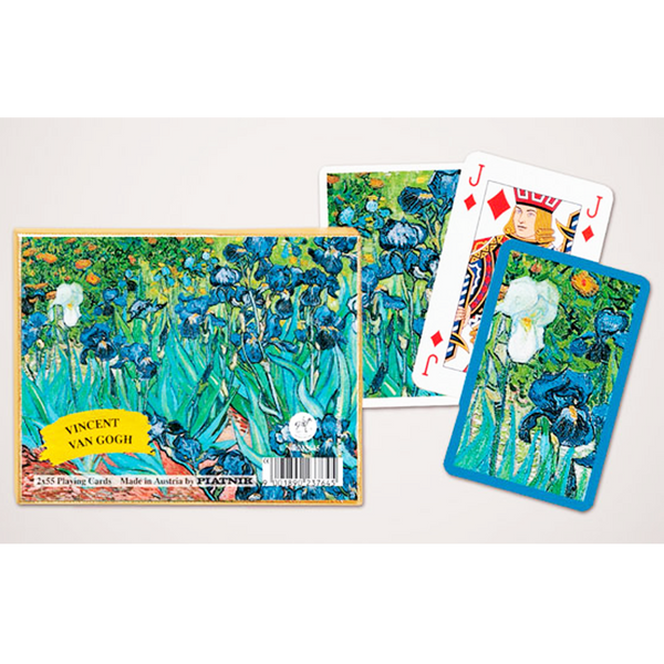 Piatnik Playing Cards - Van Gogh - Iris, double deck - Golf Gifts UK - Golf wrapped up