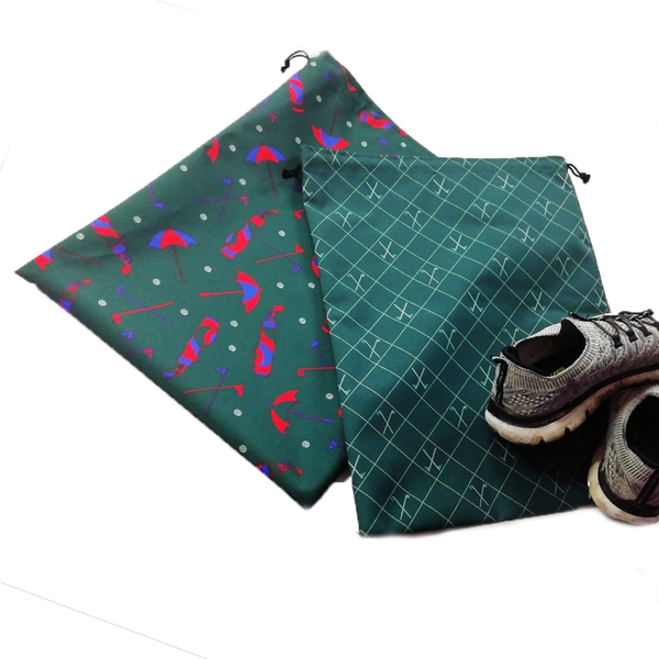 Draw-string Waterproof Shoe Bags - 2 for £12 - LAST 5 IN STOCK - Golf Gifts UK - Golf wrapped up