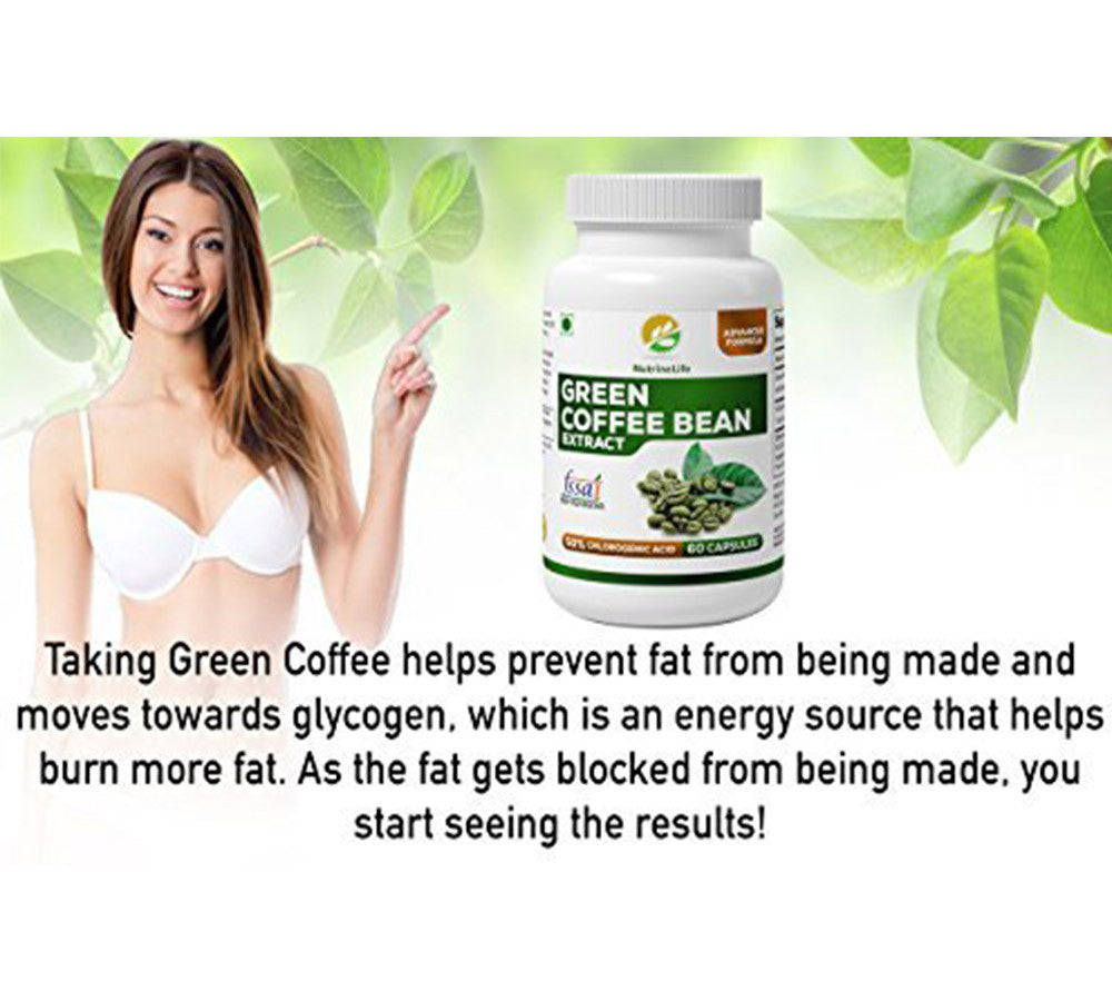 Buy Pure Green Coffee Beans Extract Capsules Lose Fat Naturally