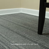 24x24 Peel and Stick Indoor Outdoor Carpet Tile 75DM Ridgeline installed in home