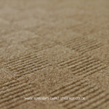 Close up Angle view of 24x24 Peel and Stick Indoor Outdoor Carpet Tile 7CDM Crochet