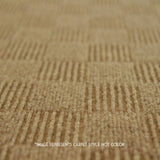 Close up straight view of 24x24 Peel and Stick Indoor Outdoor Carpet Tile 7CDM Crochet