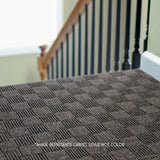 Indoor Outdoor 24x24 Carpet Tile Installed on stairs in home 7CDM Crochet