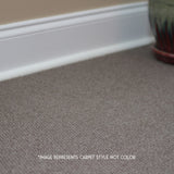 24x24 Peel and Stick Hobnail Indoor Outdoor Carpet Tile 7HDM Distinction Hobnail installed in house