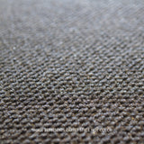 Close up Angle view of 18x18 Peel and Stick Indoor Outdoor Carpet Tile 7ND4 Highland Hobnail