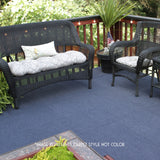 18x18 Peel and Stick Indoor Outdoor Carpet Tile 7RD4 Roanoke Ribbed installed on deck after
