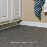 24x24 Peel and Stick Indoor Outdoor Carpet Tile 7RDM Ridgeline Ribbed installed in bathroom