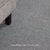24x24 Peel and Stick Indoor Outdoor Carpet Tile 7RDM Ridgeline Ribbed installed in room