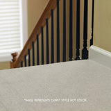 Indoor Outdoor 24x24 Carpet Tile Installed on stairs in home 7RDM Ridgeline Ribbed
