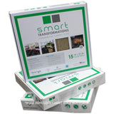 Stack of 24x24 Peel and Stick Indoor Outdoor Smart Transformations Carpet Tile boxes