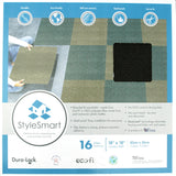 Close up of front of a Style Smart Carpet Tile box with product information