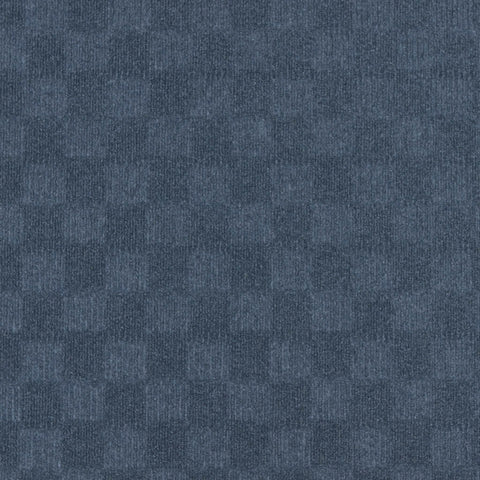 24x24 Peel and Stick Indoor Outdoor Carpet Tile 7CDM Crochet N34 Denim
