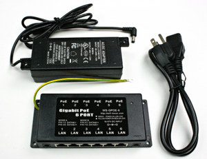 GPOE-6 Gigabit PoE Injector with Power Supply