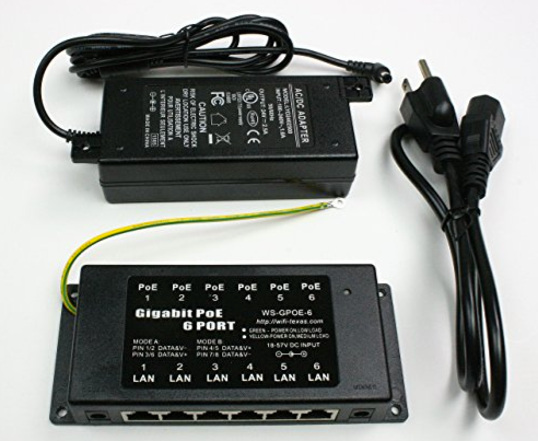 GPOE-B-6 Gigabit PoE Injector with Power Supply