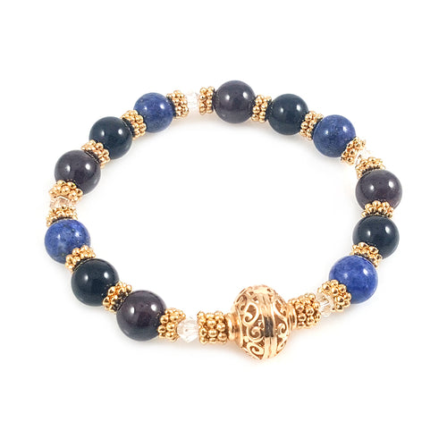 14k Gold Filled Multi Stone Women Bracelet