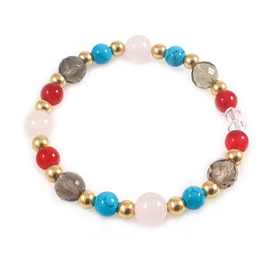 Women 14k Gold Multi-Stone Love Bracelet