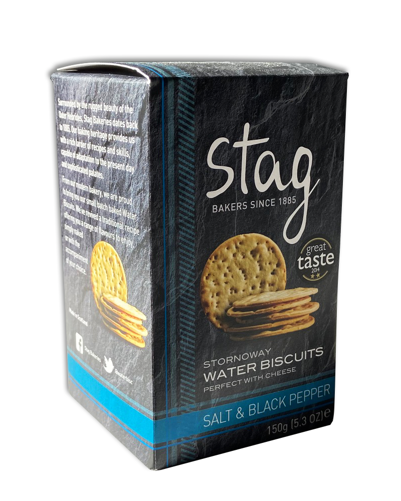Stornoway Salt and Black Pepper Water Biscuits