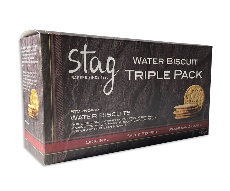 Stornoway Water Biscuit Triple Pack