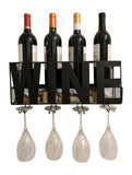 Gianna's Home Metal Wall Mounted Wine Rack and Cork Holder (Wine) - Gianna's Home