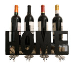 Gianna's Home Metal Wall Mounted Wine Rack and Cork Holder (Home) - Gianna's Home