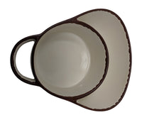 Giannas Home Set Of 2 Rustic Farmhouse Stoneware Soup Side Chip D
