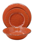 Gianna's Home 12 Piece Rustic Farmhouse Melamine Dinnerware Set, Service for 4 (Coral) - Gianna's Home