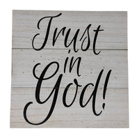 Gianna's Home Rustic Farmhouse Distressed Wood Plank Board Sign (Trust in God) - Gianna's Home