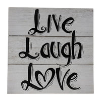 Gianna's Home Rustic Farmhouse Distressed Wood Plank Board Sign (Live Laugh Love) - Gianna's Home