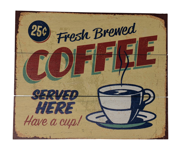Gianna's Home Rustic Farmhouse Distressed Wood Plank Board Sign (Coffee) 12 in. X 10 in. - Gianna's Home