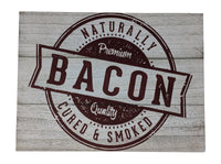 Gianna's Home Rustic Farmhouse Distressed Wood Plank Board Sign (Bacon) - Gianna's Home
