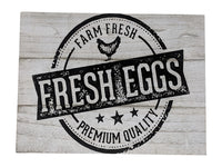 Gianna's Home Rustic Farmhouse Distressed Wood Plank Board Sign (Farm Fresh Eggs) - Gianna's Home