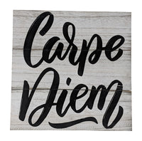 Gianna's Home Rustic Farmhouse Distressed Wood Plank Board Sign (Carpe Diem) - Gianna's Home