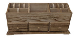 Gianna's Home Rustic Farmhouse Desk 3 Drawer Wooden Vanity Makeup Beauty Jewelry Storage Organizer (Torched Wood) - Gianna's Home