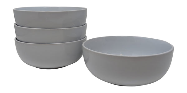 Gianna's Home Stoneware Soup Salad Cereal Bowls 6 1/2 in. Ceramic 28 oz, Set of 4 (White) - Gianna's Home